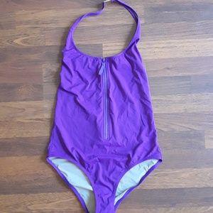 J. Crew zip-front one-piece swimsuit